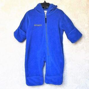 Columbia Fleece Baby Bunting Like New 6M Blue